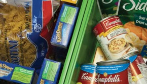 Food items from the HSF Food Bank