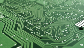 A picture of a circuit board.