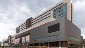 The new hospital building located on Wilson Avenue