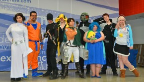 Group photo of Cosplay contest participants.