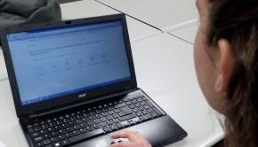 Computer with the H.O.M.E. website