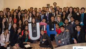 UGH DECA team poses with their awards