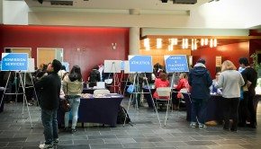 Guelph-Humber atrium at business studies program preview day