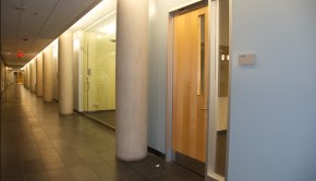 Image of a classroom door at the University of Guelph-Humber